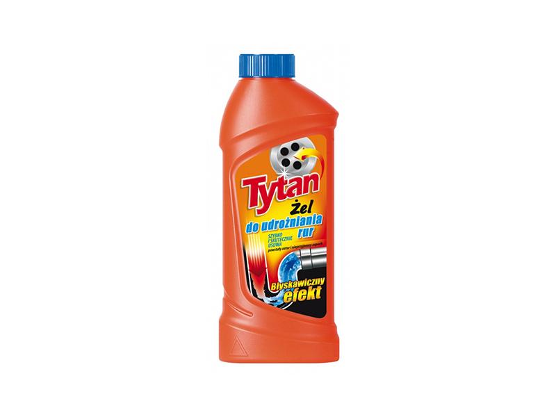Засіб для прочищення труб Tytan активний гель 1л
