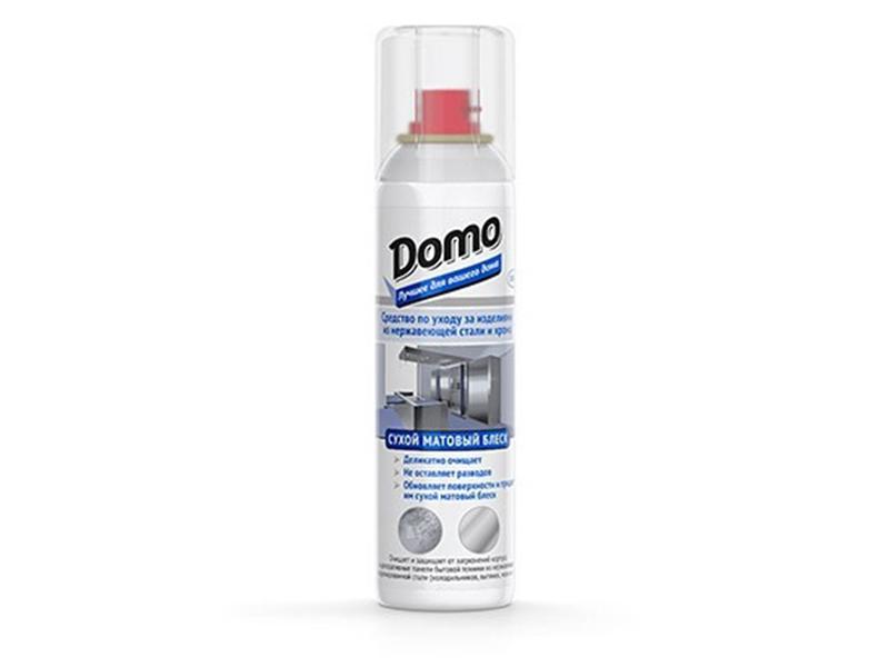 Засіб для поверхонь із нерж сталі, хрома  аерозоль Domo (XD 10032) 150мл, Сухий матовий блиск