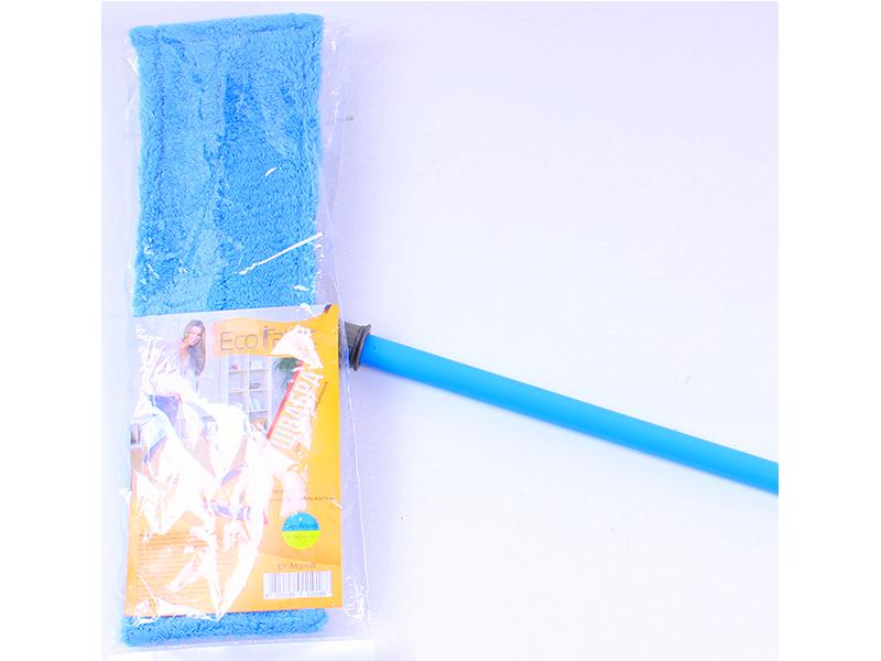 Швабра для вологого прибирання, мікрофібра, 42 см, синя