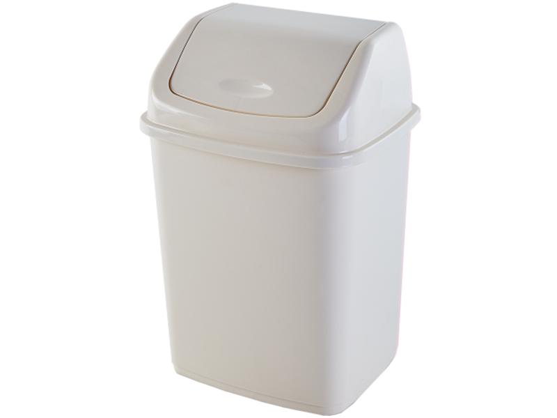 Корзина пластикова з гойдаючою кришкою 10л Aleana, сірий