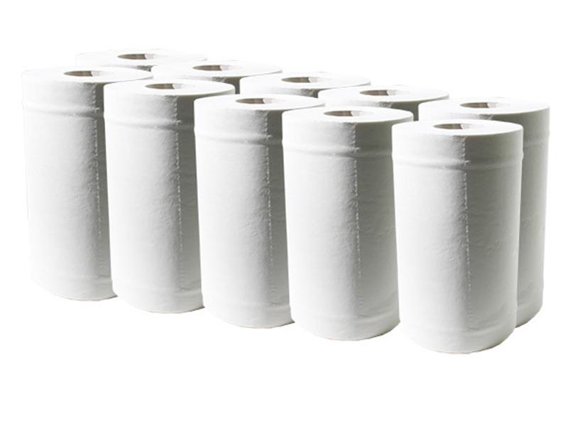 Рушники паперові в рулоні целюлозні 2-шарові d=13 h=19/68м 300відр.Tischa Р-1433 (внутр.розм.), білий (12р
